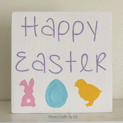 Finished easter painted decor sign