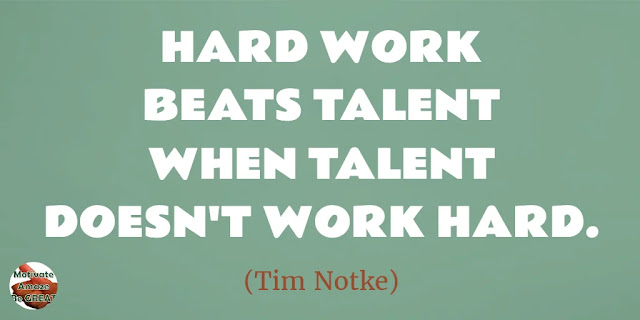 "Motivational Quotes To Work And Make It Happen: ""Hard work beats talent when talent doesn't work hard."" - Tim Notke"