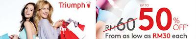 Triumph Lingerie Warehouse Sale Perak 2016