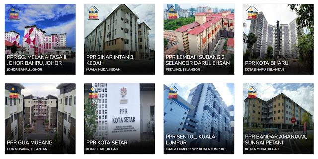 Lokasi Dan Projek Rumah IKRAM Keluarga Malaysia