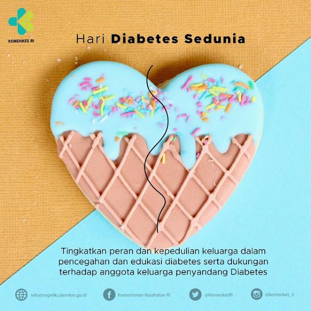 """Lindungi Keluarga dari Diabetes dalam rangka peringatan """"Hari Diabetes Sedunia 2019"""