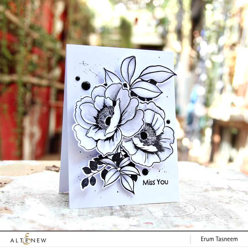 Altenew Wall Paper Art Stamp Set | Erum Tasneem | @pr0digy0