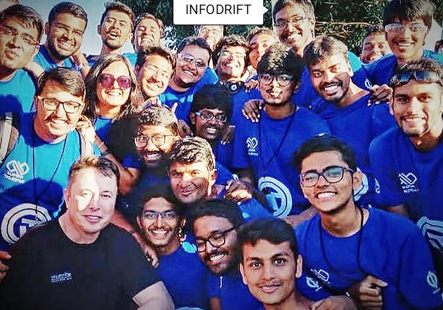 Elon Musk with avishkar Hyperloop