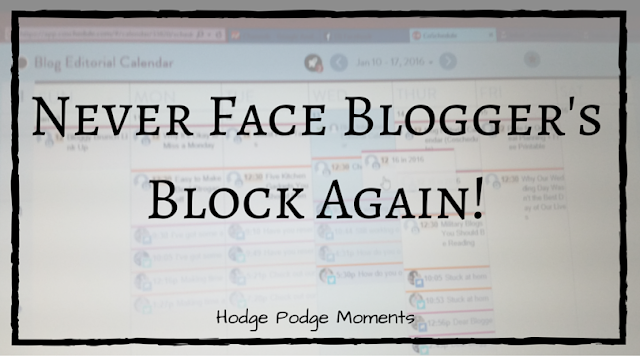 How to Never Face Blogger's Block Again