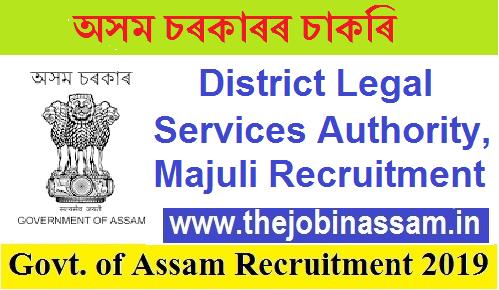 District Legal Services Authority, Majuli Recruitment