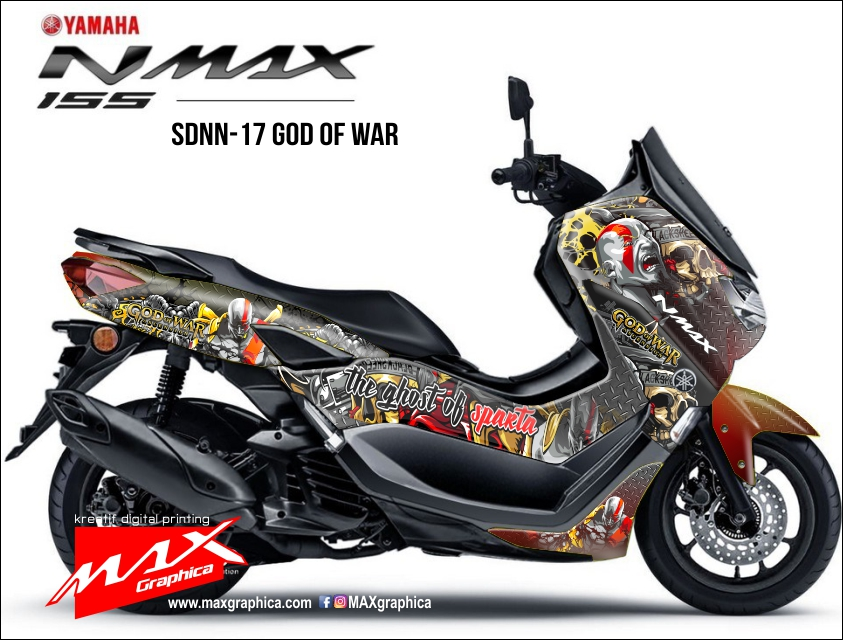 decal stiker all new nmax fullbody printing god of war