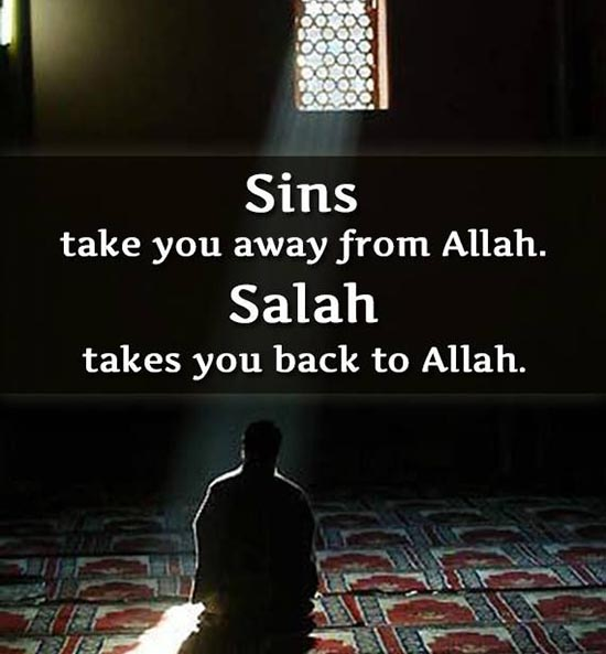 Allah Quotes - Sins take you away from Allah