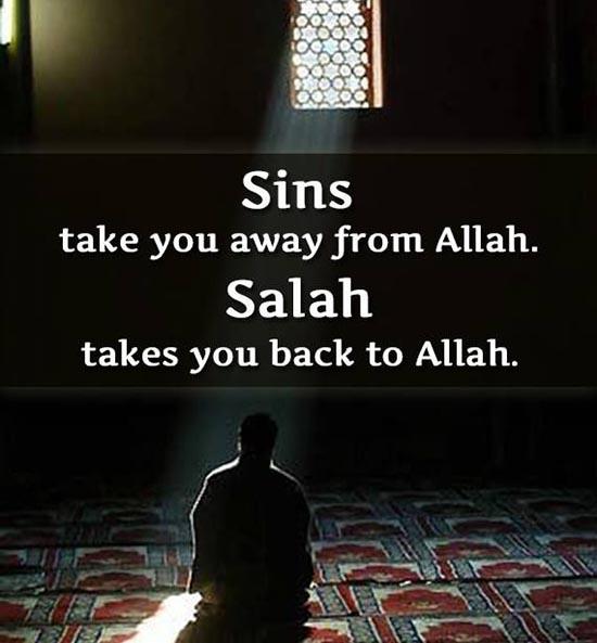 Allah Quotes - Sins take you away from Allah