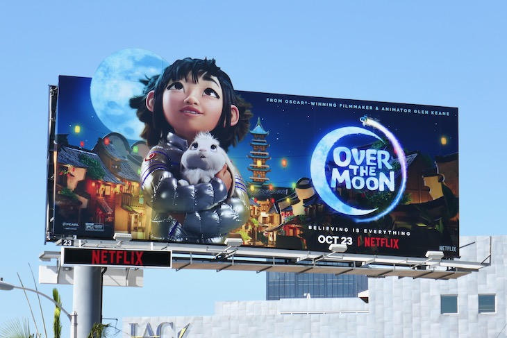 Over the Moon extension cut-out billboard