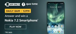 Amazon Quiz 4 December 2019 Answer  Win - Nokia 7.2 Smartphone
