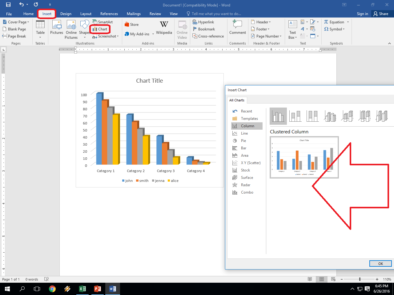 Learn New Things How To Insert Chart In Ms Excel