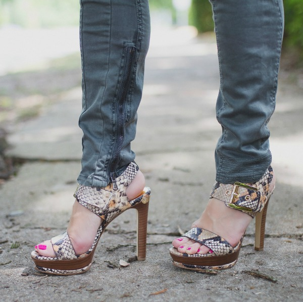 Weekend Steals & Deals   Summer Fashion Outfits - Michael Kors Snakeskin Heels