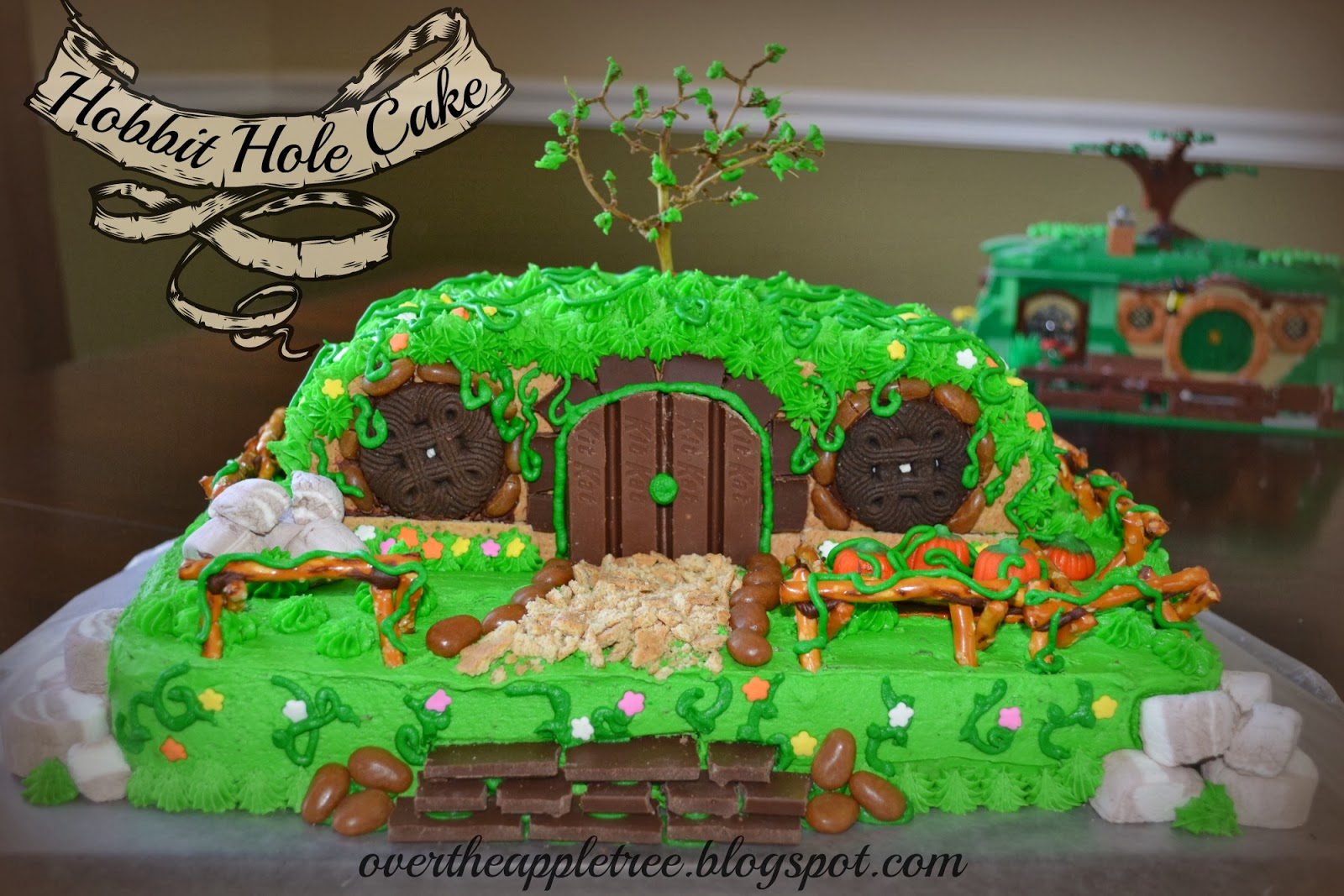 Hobbit Hole Cake by Over The Apple Tree