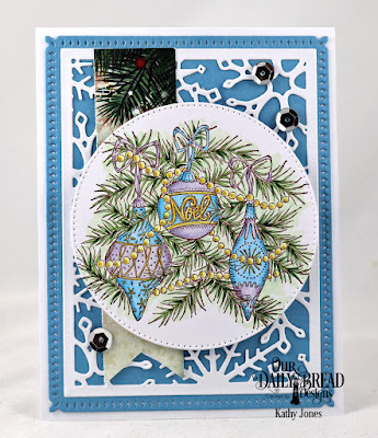 Our Daily Bread Designs Stamp Set: Noel Ornaments, Custom Dies: Snowflake Sky, Pierced Circles,  Paper Collection: Christmas 2017