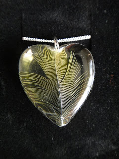 Bird Feather Keepsake Necklace