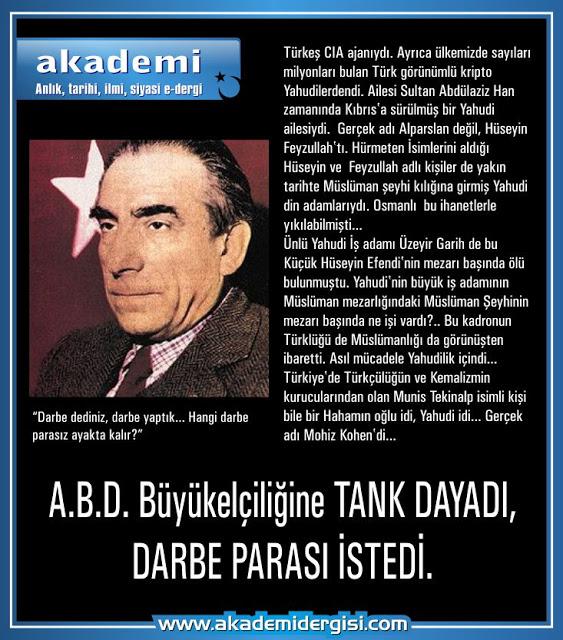 Adnan Menderes, Alparslan Türkeş, Cumhuriyet Tarihi, darbeler, slider, yahudilik, Yakın Tarih