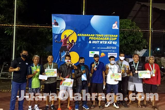Daftar Juara Open Tournament Tennis Veteran Pegadaian Cup 2020