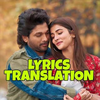 samajavaragamana lyrics Meaning/Translation in Hindi (हिंदी) - Sid Sriram | Ala Vaikunthapurramuloo