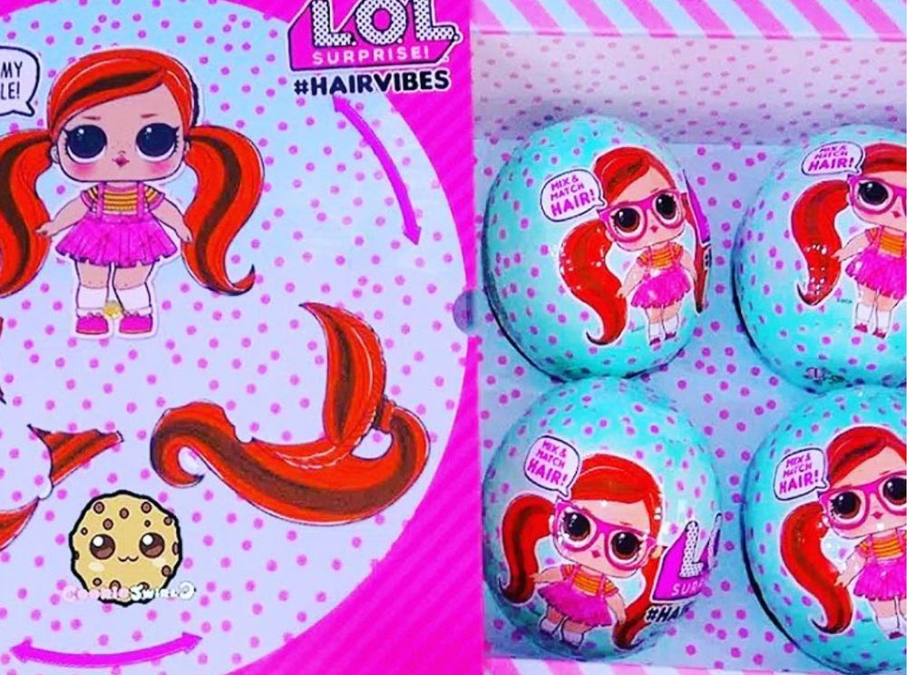 #hairvibes L.O.L. Surprise dolls with mix and match hair
