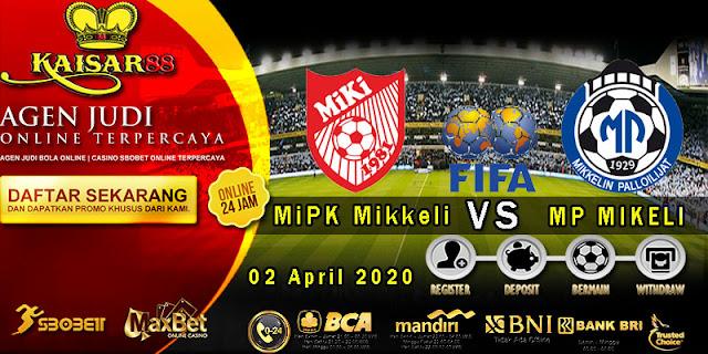 Prediksi Bola Terpercaya Liga Friendly MiPK Mikkeli vs MP MIKELI 02 April 2020