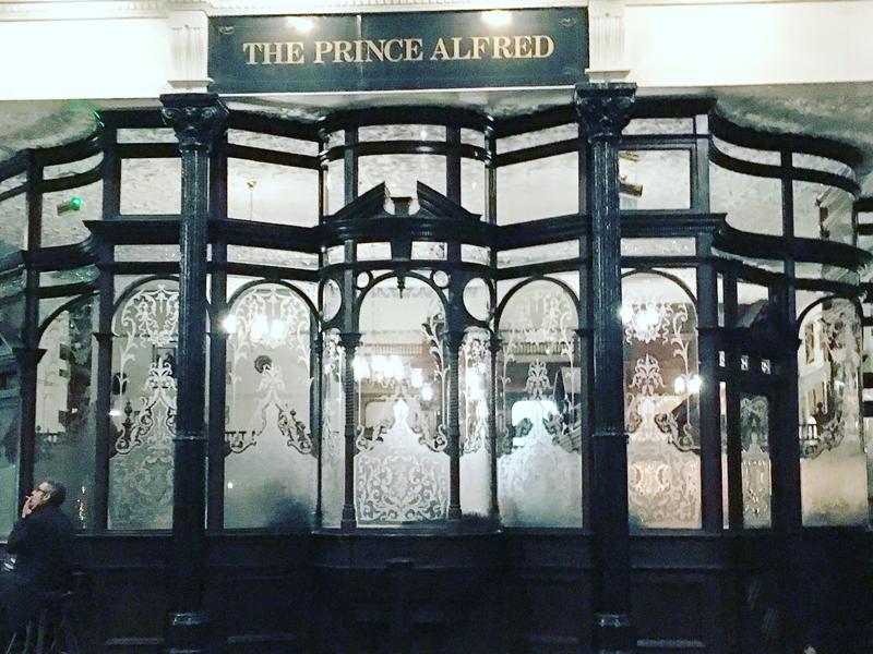the prince alfred manger a Londres plaisir papilles pub anglais british