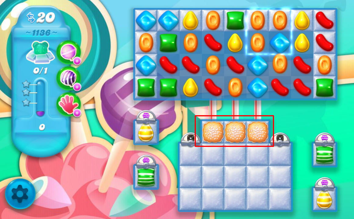 Candy Crush Soda Saga level 1136