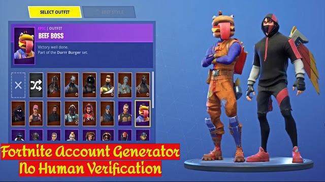 fortnite account generator no human verification