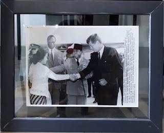 Foto Jadul Presiden Soekarno Presiden Kennedy Megawati Soekarnoputri Tahun 1961 SKN002