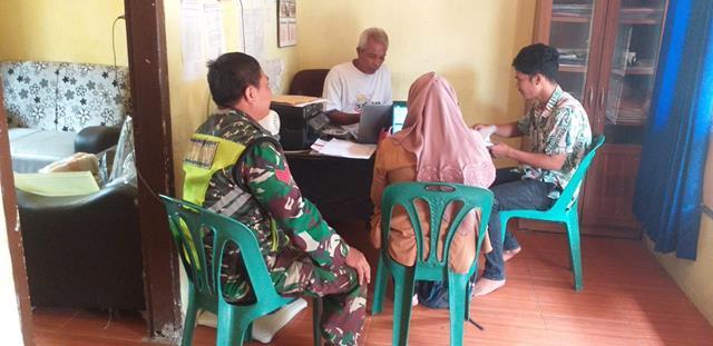 Jalin Silaturahmi Dengan Perangkat Desa, Personel Jajaran Kodim 0207/Simalungun Laksanakan Komsos
