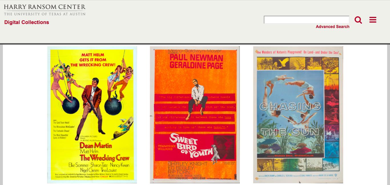 10000張手繪美國老電影海報數位化圖庫,免費下載大尺寸圖檔