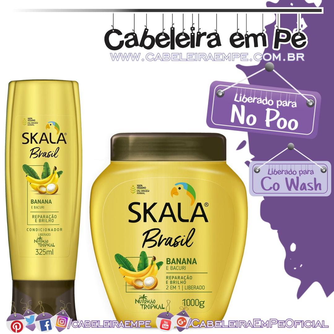 Condicionador e Máscara Banana e Bacuri - Skala Brasil (No Poo e Co Wash)