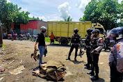 Unit Patmor Polres Bima Kota Bubarkan Judi Sabung Ayam di Tanjung