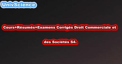 Cours+TD+Examens+Résumés Droit Commerciale S4