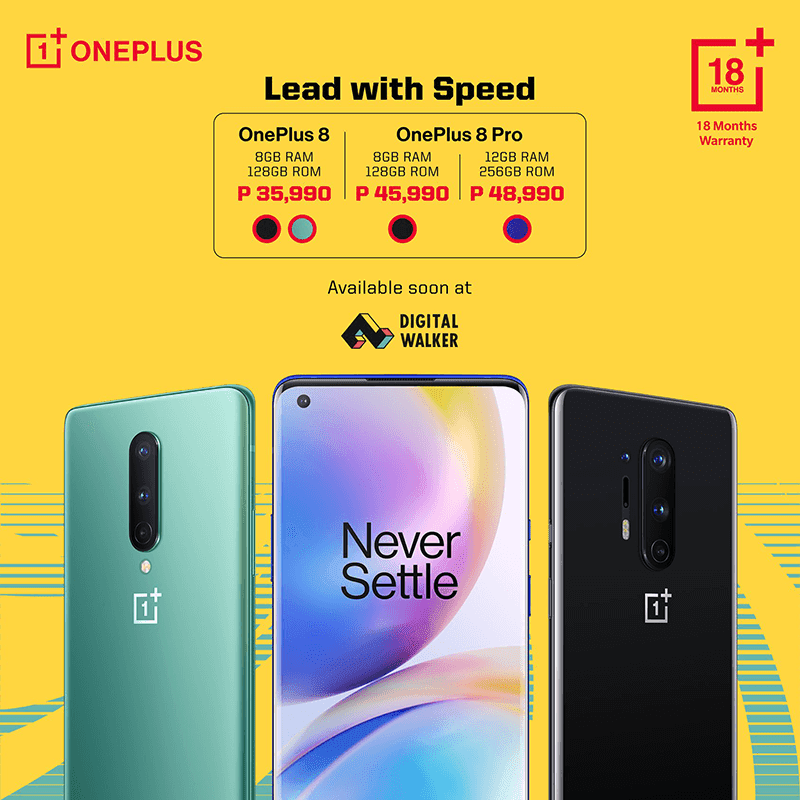 PH price and colors of the new OnePlus and OnePlus 8 Pro