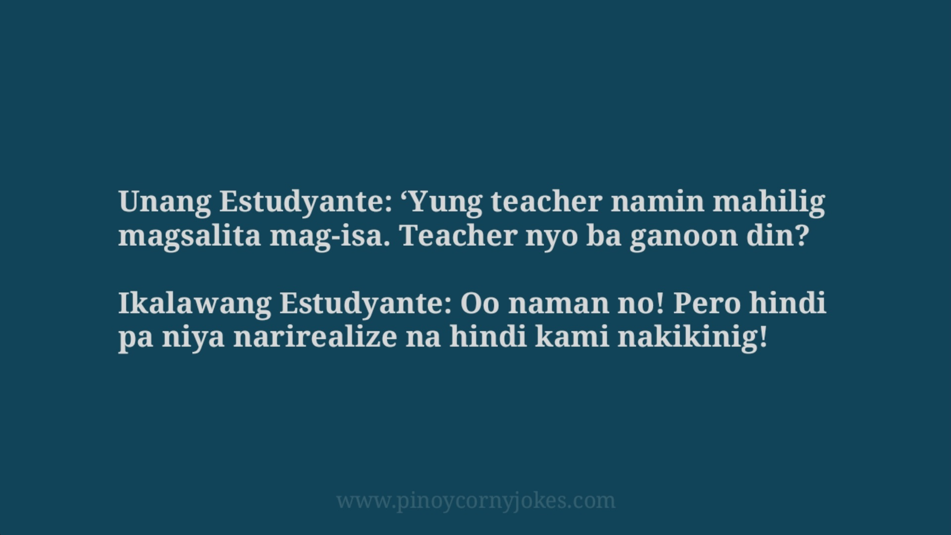 mahilig magsalita tagalog jokes school