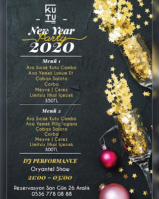Kutu Lara Lounge Ankara Yılbaşı Programı 2020 Menüsü