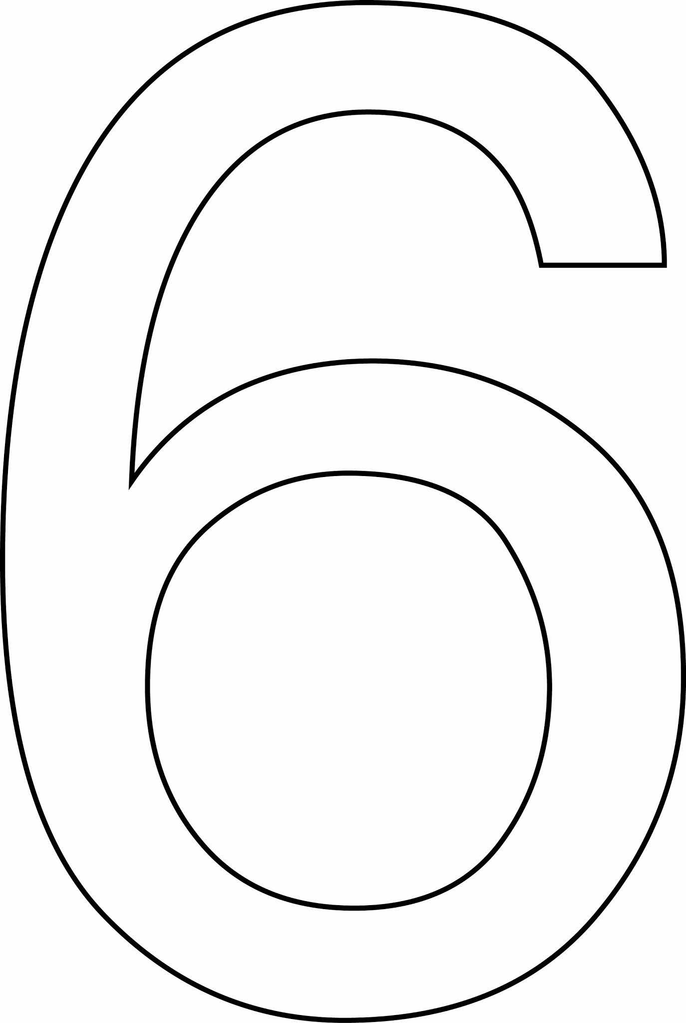 Número 6 ( seis) para imprimir