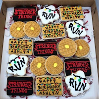 stranger things halloween party cookies