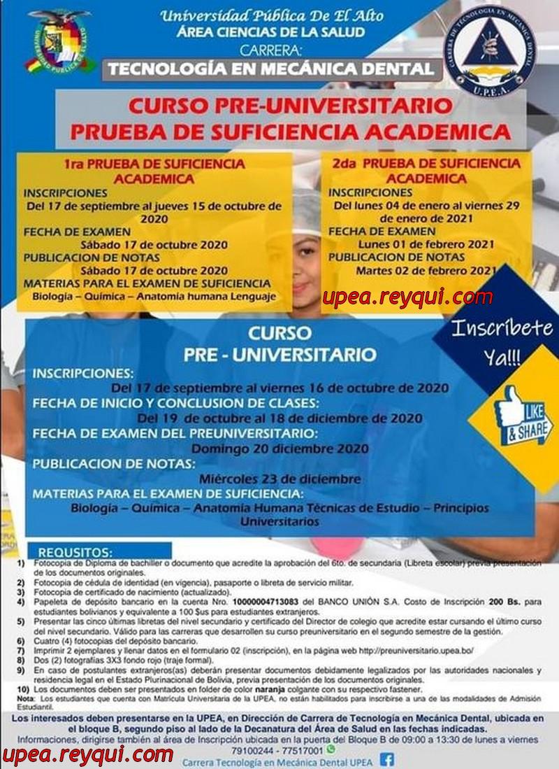 Convocatorias UPEA 2021