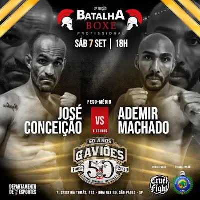 Sergipano luta neste sábado (7) no Batalha Boxe Profissional em São Paulo (SP)