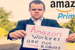 احتجاج واضراب عمال شركة امازون بسبب يوم البرايم  Amazon prime day