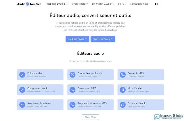 Audio Tool Set : une véritable boite à outils pour l'audio composée de 44 outils (édition, conversion, etc)