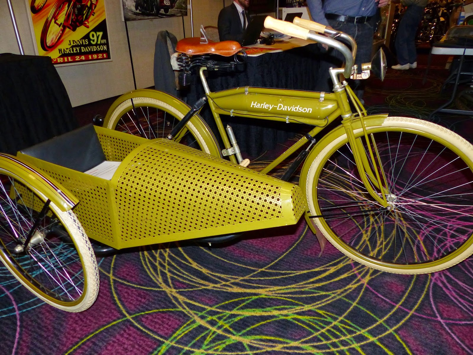 oldmotodude 1917 harley davidson bicycle with sidecar for. Black Bedroom Furniture Sets. Home Design Ideas