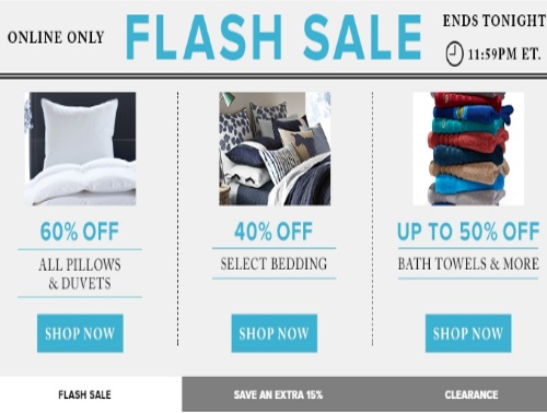 Hudson's Bay Flash Sales Pillows, Duvets, Bedding & Towels