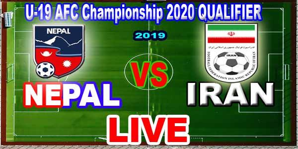 Nepal vs Iran U19 football Live