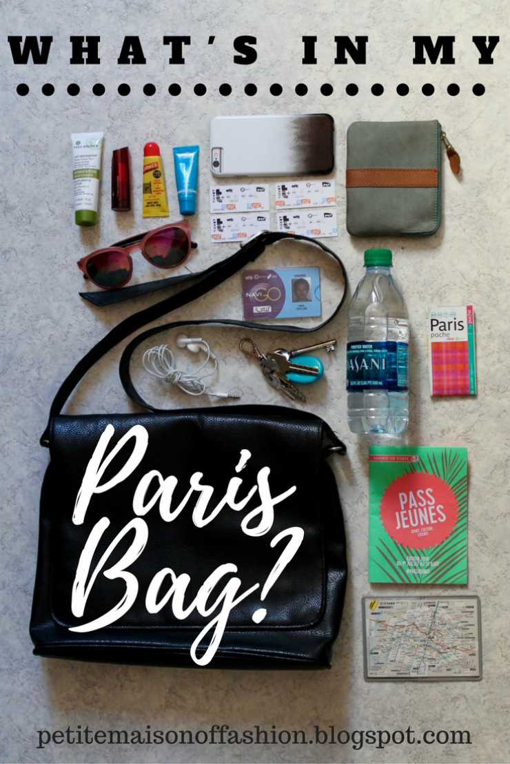 Parisian day bag essentials