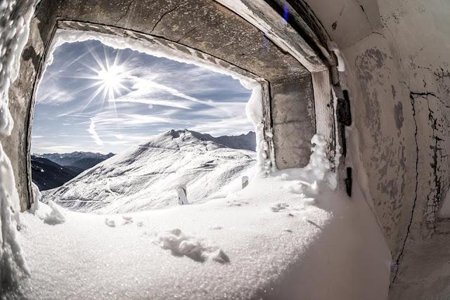 MTB Brenner Grenzkamm Winter Militär