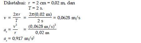 Pengertian, Rumus dan Contoh Soal Percepatan Sentripetal pada Gerak Melingkar