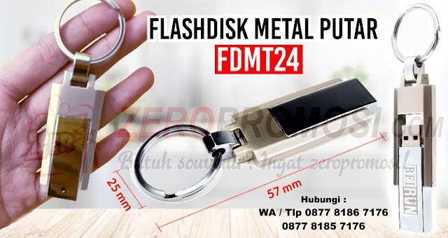 Jual Barang Promosi USB Metal FDMT24, Flashdisk Metal Putar, Souvenir USB Metal Putar, Flashdisk Promosi Perusahaan Eksklusif