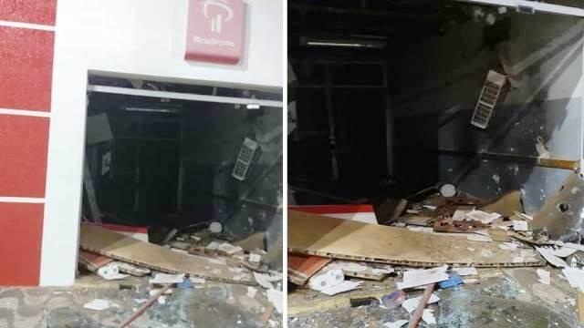 Chapada: Quadrilha explode agência do Banco Bradesco em Mulungu do Morro